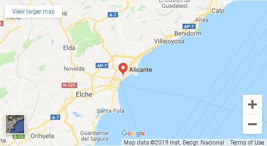 mapa de Alicante
